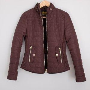 Brown Puffer Winter Jacket